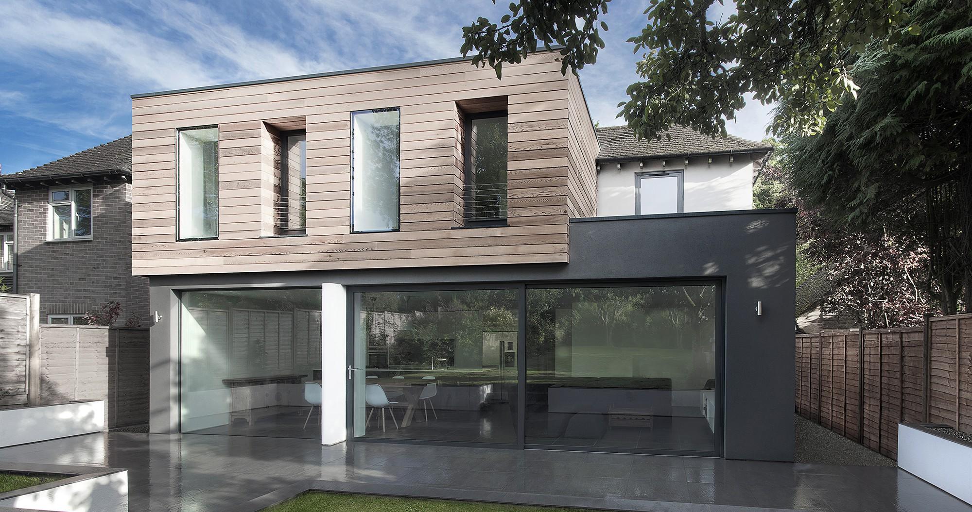 Renover facade maison for Extension maison 93