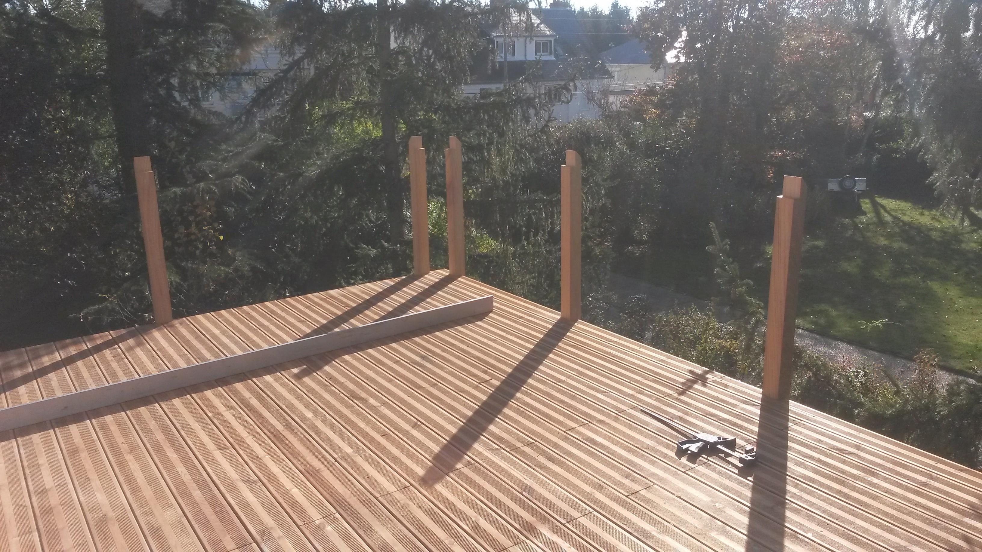 terrasse en bois sur lev e pr s d 39 orl ans loire eco bois. Black Bedroom Furniture Sets. Home Design Ideas