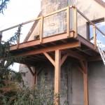 Terrasse en bois surélevée à Orléans