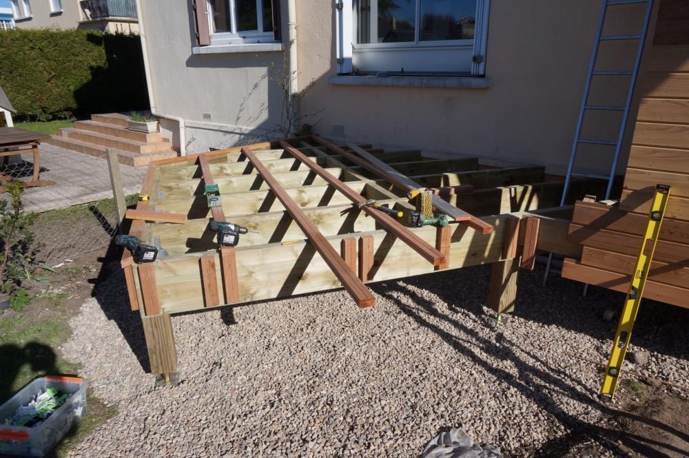 R alisation d 39 une extension de maison en bois loire eco bois for Toit terrasse en bois
