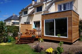 Extension maison et terrasse bois Orléans