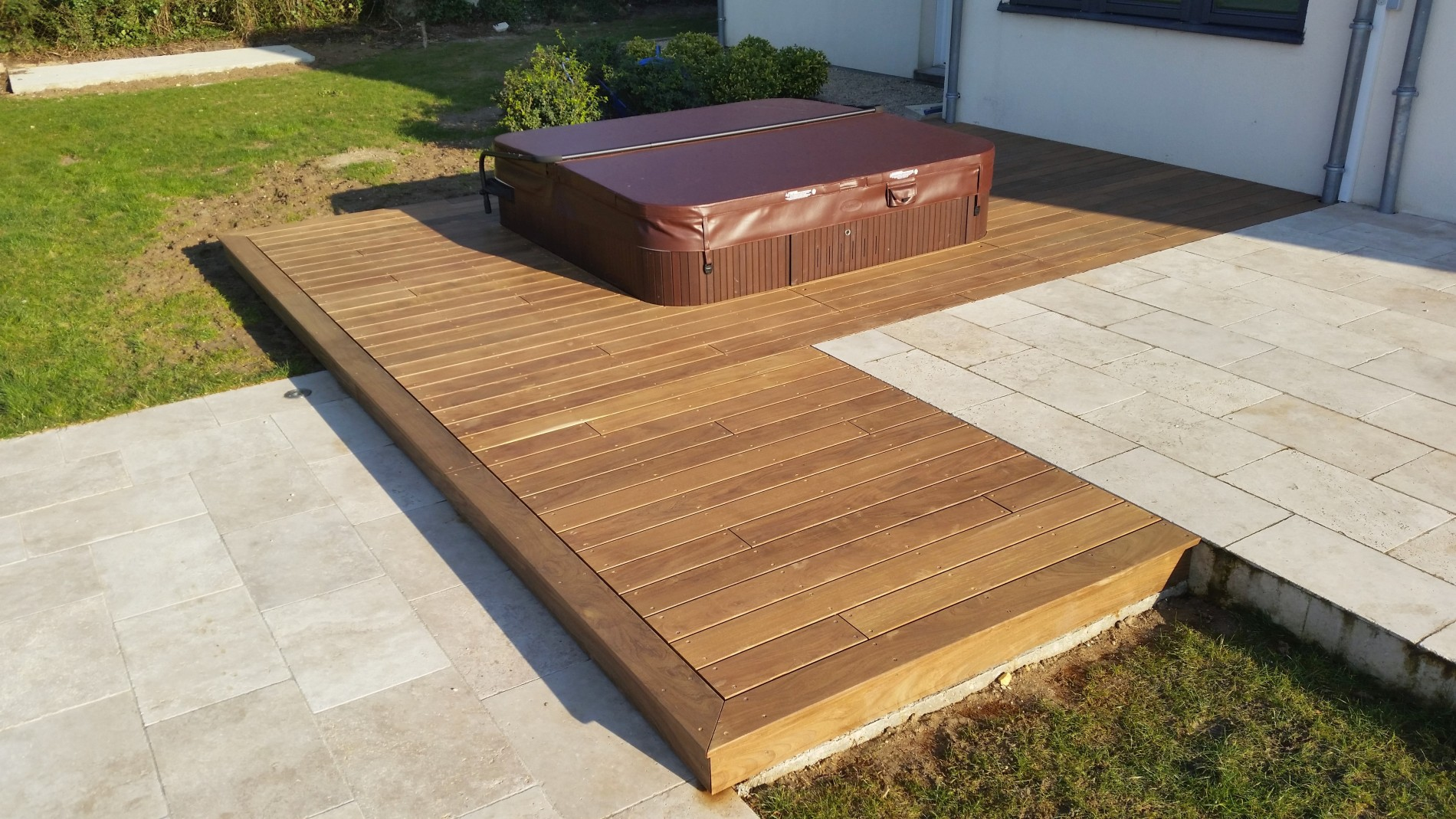 Projet d 39 extension de terrasse bois loire eco bois for On the terrasse