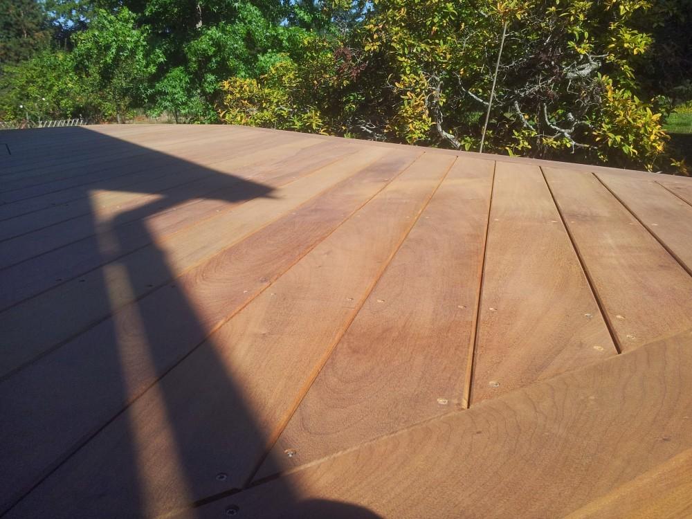 Terrasse bois sur vis de fondation  Loire Eco Bois