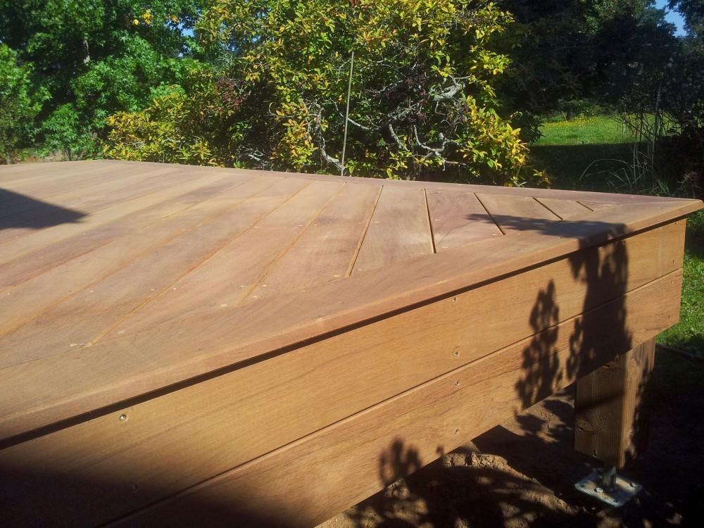 Terrasse bois sur vis de fondation Loire Eco Bois # Vis De Fondation Terrasse Bois