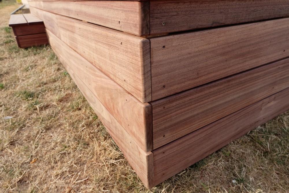 pose d 39 une terrasse en padouk orl ans loire eco bois. Black Bedroom Furniture Sets. Home Design Ideas