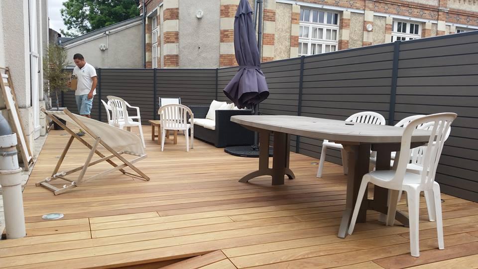 cloture terrasse bois