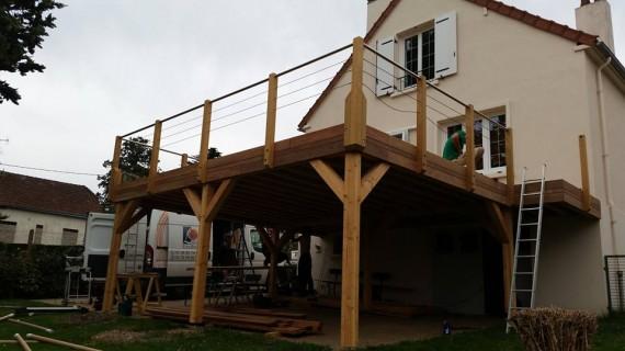 terrasse bois sur lev e loire eco bois. Black Bedroom Furniture Sets. Home Design Ideas