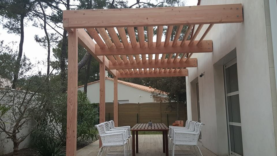 une pergola cr e sur mesure loire eco bois. Black Bedroom Furniture Sets. Home Design Ideas