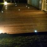 éclairage terrasse bois