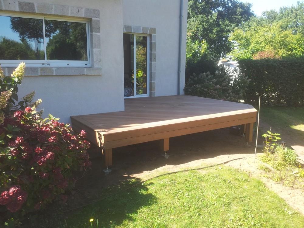 Fantastic Terrasse bois sur vis de fondation | Loire Eco Bois MM92