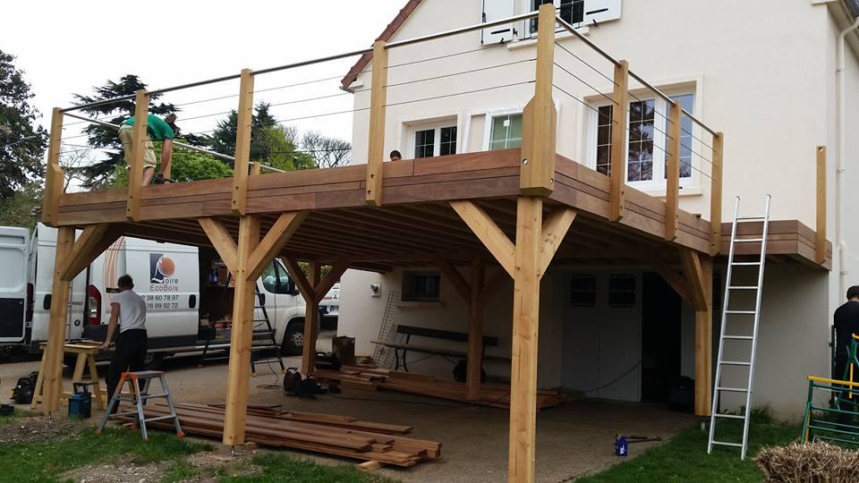 Unique Terrasse en bois suspendue à Beaugency | Loire Eco Bois AA76