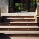 Terrasse Bois et Escalier avec Spots